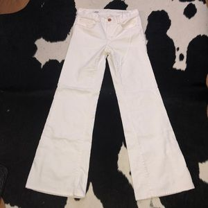 Gap high rise white denim trouser, 26 w, size 2T